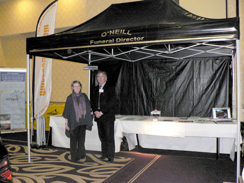 O' Neill's Funeral Directors printed Black PVC Canopy